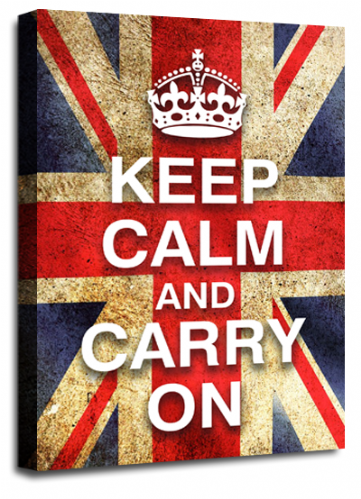 Keep Calm and Carry On British Flag Wall Art